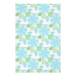 Flowering Vine Abstract Retro Stationery