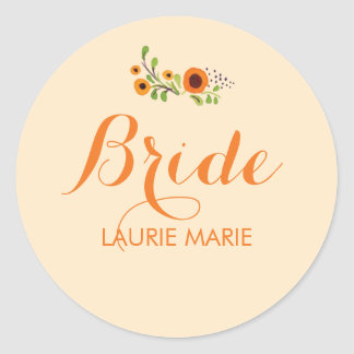 Flowering Vine Bridal Shower Sticker Template