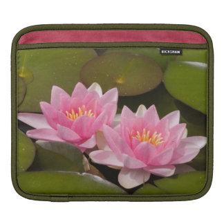Flowering water lilies sleeve for iPads