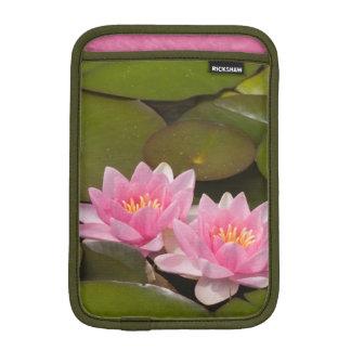 Flowering water lilies iPad mini sleeves
