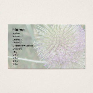 Flowering Wild Grass Gardeners Custom Business Card