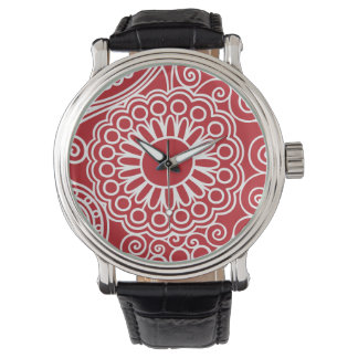 FlowerJungle in Red and White Watches