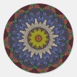 FlowerMandala1 Round Sticker