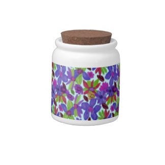 Flowermania Custom Candy Jar