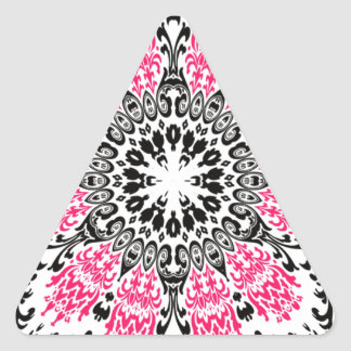 Flowerp del pañuelo de Tripy Pegatina Triangular