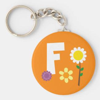 flowerpng basic round button keychain