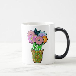 flowerpot 11 oz magic heat Color-Changing coffee mug