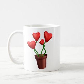 Flowerpot Hearts Classic White Coffee Mug