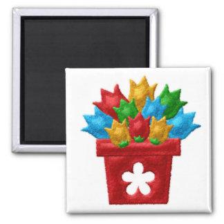 FLOWERPOT Locker Magnets, Refrigerator Magnet