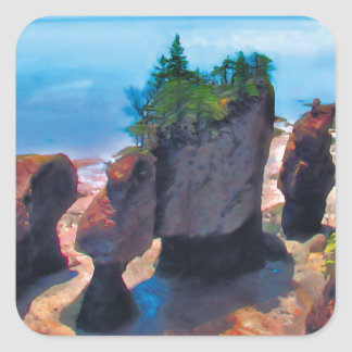 Flowerpot Rocks Square Sticker