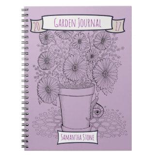 Flowerpot & Snail Lineart Design Notebook