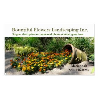 Flowerpot spilling flowers Landscaper or Gardener Double-Sided Standard Business Cards (Pack Of 100)