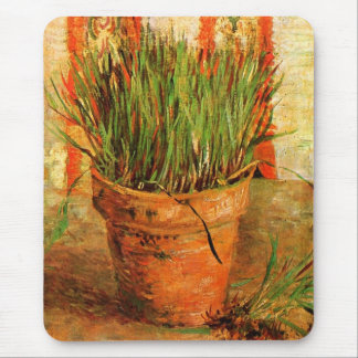 Flowerpot with Chives (F337) Van Gogh Fine Art Mouse Pad