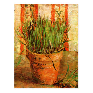 Flowerpot with Chives (F337) Van Gogh Fine Art Postcard