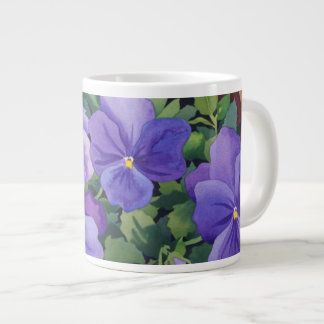 Flowerpots with Pansies 2007 20 Oz Large Ceramic Coffee Mug