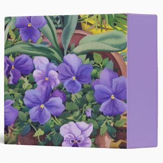 Flowerpots with Pansies 2007 3 Ring Binder
