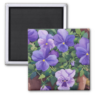 Flowerpots with Pansies 2007 Magnet