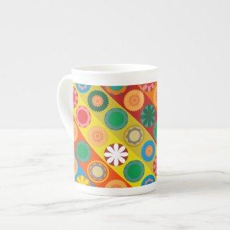 FlowerPower 2 Porcelain Mug