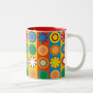 FlowerPower 2 Two-Tone Coffee Mug