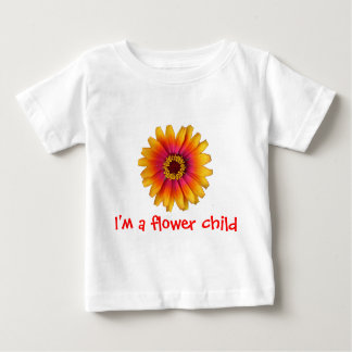 flowerpower colorful daisy, I'm a flower child Baby T-Shirt