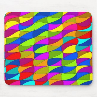 Flowerpower confused geometric pattern mouse pad