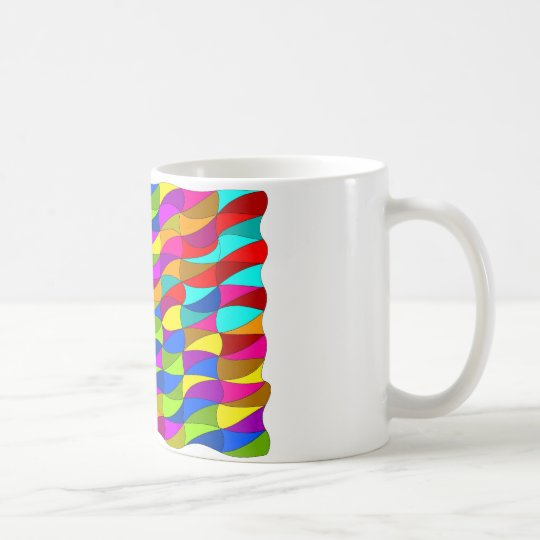 Flowerpower confused pattern coffee mug
