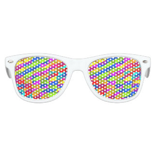 Flowerpower confused pattern kids sunglasses
