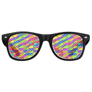 Flowerpower confused pattern wayfarer sunglasses