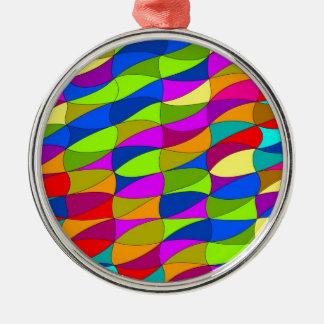Flowerpower confused pattern metal ornament