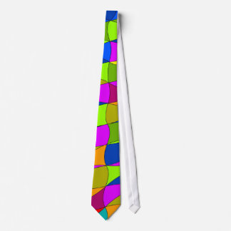 Flowerpower confused pattern neck tie