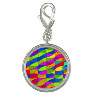 Flowerpower confused pattern photo charm