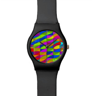 Flowerpower confused pattern wristwatches