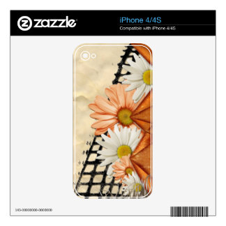 flowers-106565 SCRAPBOOKING DECORATIVE  flowers gr Decal For The iPhone 4S