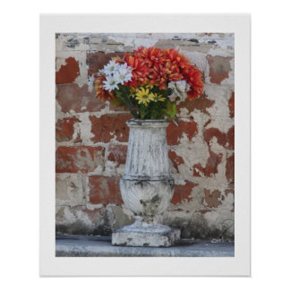 Flowers 16x20 Poster with Edge