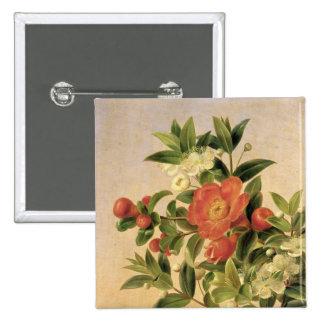 Flowers, 1835 pinback button