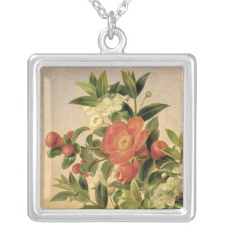 Flowers, 1835 silver plated necklace