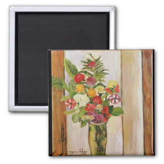 Flowers, 1929 2 inch square magnet