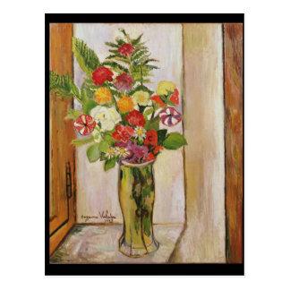 Flowers, 1929 postcard