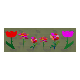FLOWERS   1 FT X 3  FT POSTER