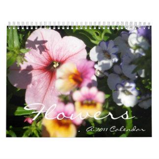 Flowers 2011 wall calendars