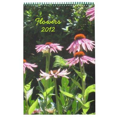 Flowers 2012 calendars