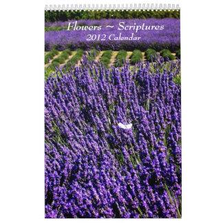 Flowers 2012 Scripture Calendar