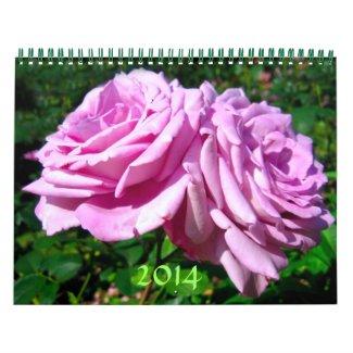 Flowers 2014 wall calendar
