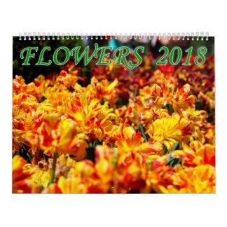 Flowers 2018 calendar