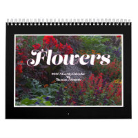 Flowers 2021 Monthly Calendar