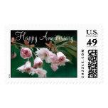 Flowers 295 Happy Anniversary Postage Stamp