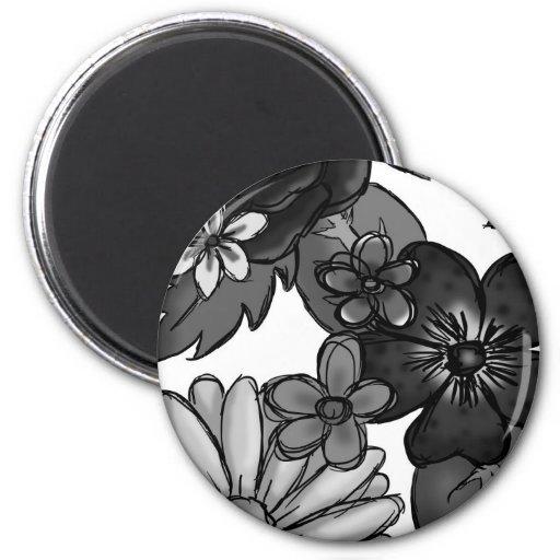 Flowers 2 Inch Round Magnet