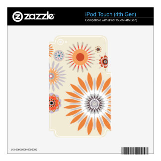 Flowers 33 iPod touch 4G decal