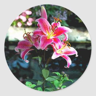 Flowers 349 classic round sticker