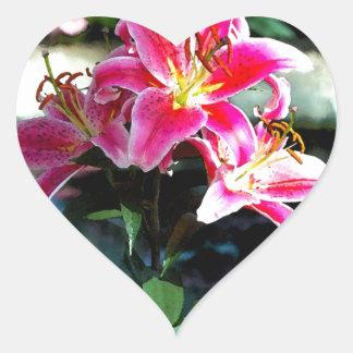 Flowers 349 heart sticker